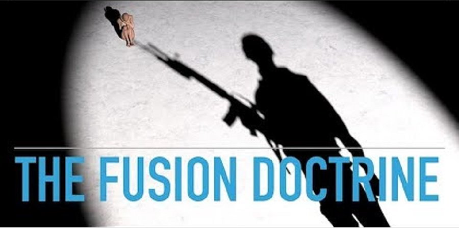 The Fusion Doctrine: A Totalitarian Take Over and State Privatization Program  by   Julian Rose