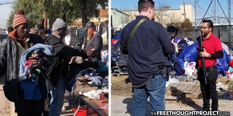 Since Feeding the Homeless Is Illegal, Activists Carry AR-15s to Give Out Food, Supplies