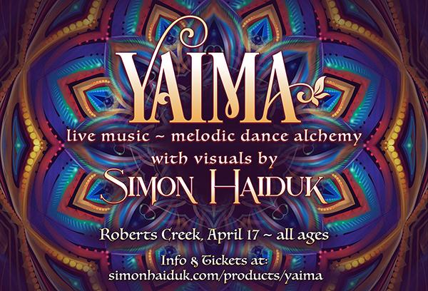 Yaima  with  Simon Haiduk,  April 17, 2020, Roberts Creek, BC