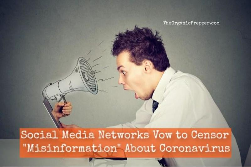 "Social Media Networks Vow to CENSOR ""Misinformation"" About Coronavirus"