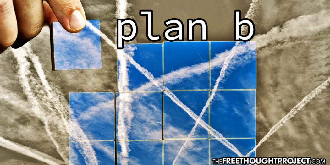 "Congress Now Funding ""Controversial"" Geoengineering ""Plan B"" to Spray Particles in the Sky to Cool Earth"