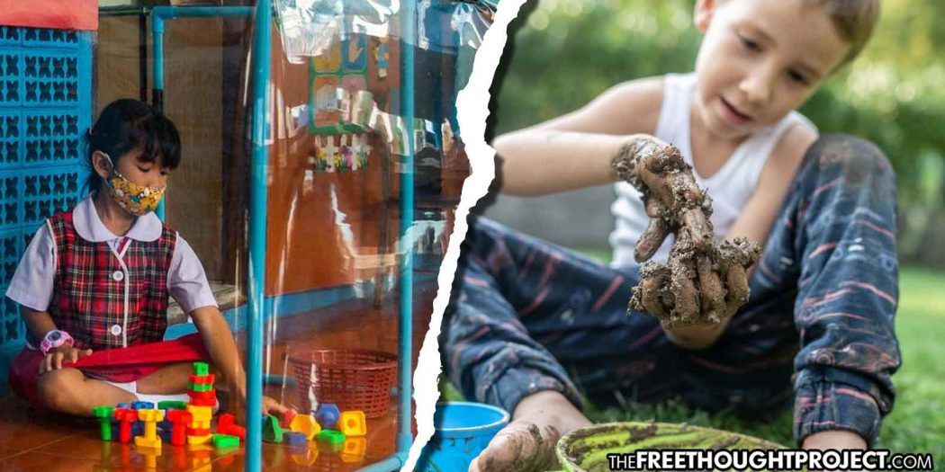 AS GOV'T PUTS KIDS IN BUBBLES, STUDY SUGGESTS PLAYING IN THE DIRT BOOSTS IMMUNE SYSTEMS