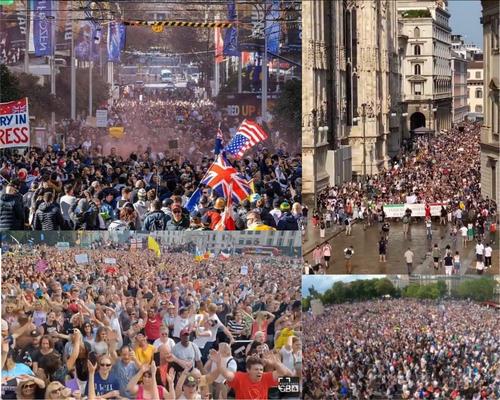 Protesters Rage Across Europe As Lockdown, Vaccination Mandates Begin